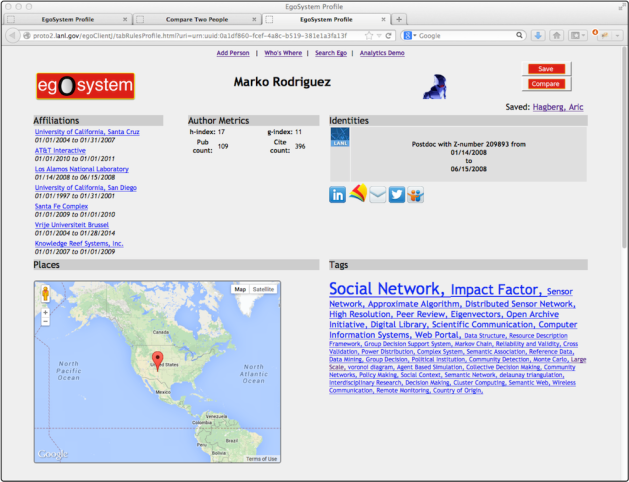 EgoSystem User Interface